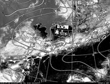 ひまわり7号可視画像・天気図合成 2015年7月6日12時JST