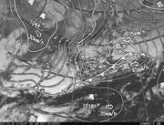 「ひまわり8号」可視画像&天気図合成 2017年1月30日12時JST
