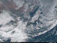 「ひまわり8号」可視画像 2017年1月31日12時JST