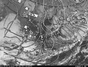 「ひまわり8号」可視画像&天気図合成 2017年2月2日12時JST