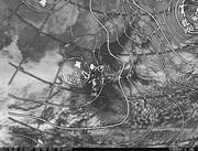 「ひまわり8号」可視画像&天気図合成 2017年2月3日12時JST