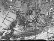 「ひまわり8号」可視画像&天気図合成 2017年2月7日12時JST