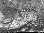 「ひまわり8号」可視画像&天気図合成 2017年2月9日12時JST