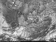 「ひまわり8号」可視画像&天気図合成 2017年2月10日12時JST