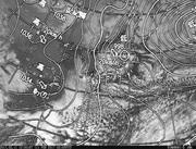 「ひまわり8号」可視画像&天気図合成 2017年2月11日12時JST