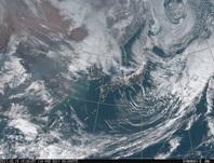 「ひまわり8号」可視画像 2017年2月19日12時JST