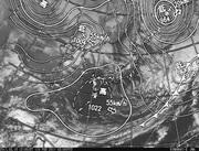 「ひまわり8号」可視画像&天気図合成 2017年2月19日12時JST