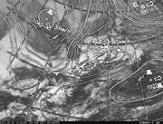 「ひまわり8号」可視画像&天気図合成 2017年2月20日12時JST
