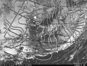「ひまわり8号」可視画像&天気図合成 2017年2月21日12時JST
