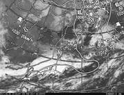 「ひまわり8号」可視画像&天気図合成 2017年2月26日12時JST