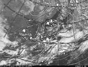 「ひまわり8号」可視画像&天気図合成 2017年2月27日12時JST