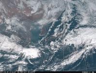 「ひまわり8号」可視画像 2017年2月27日12時JST