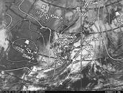 「ひまわり8号」可視画像&天気図合成 2017年3月2日12時JST