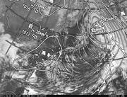 「ひまわり8号」可視画像&天気図合成 2017年3月3日12時JST