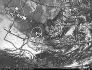 「ひまわり8号」可視画像&天気図合成 2017年3月10日12時JST