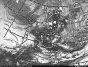 「ひまわり8号」可視画像&天気図合成 2017年3月12日12時JST