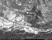 「ひまわり8号」可視画像&天気図合成 2017年3月20日12時JST