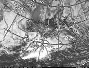 「ひまわり8号」可視画像&天気図合成 2017年3月23日12時JST