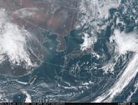 「ひまわり8号」可視画像 2017年4月3日12時JST