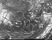 「ひまわり8号」可視画像&天気図合成 2017年4月3日12時JST