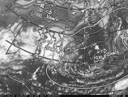 「ひまわり8号」可視画像&天気図合成 2017年4月5日12時JST