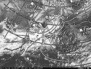 「ひまわり8号」可視画像&天気図合成 2017年4月6日12時JST