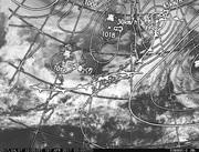 「ひまわり8号」可視画像&天気図合成 2017年4月7日12時JST