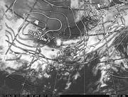 「ひまわり8号」可視画像&天気図合成 2017年4月9日12時JST