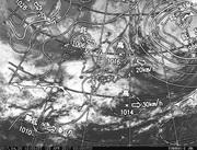「ひまわり8号」可視画像&天気図合成 2017年4月20日12時JST