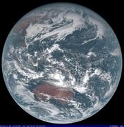 「ひまわり8号」可視画像 2018年1月23日12時JST