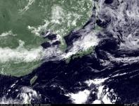 ひまわり7号可視画像 2014年7月16日12時JST