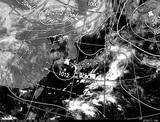 ひまわり7号可視画像・天気図合成 2014年7月20日12時JST