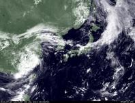 ひまわり7号可視画像 2014年7月24日12時JST