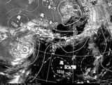 ひまわり7号可視画像・天気図合成 2014年7月24日12時JST