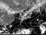ひまわり7号可視画像・天気図合成 2014年8月5日12時JST