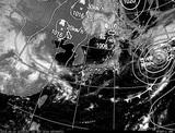 ひまわり7号可視画像・天気図合成 2014年9月10日12時JST