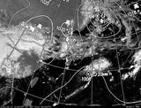 ひまわり7号可視画像・天気図合成 2014年9月17日12時JST