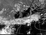 ひまわり7号可視画像・天気図合成 2014年9月20日12時JST