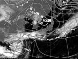 ひまわり7号可視画像・天気図合成 2014年9月21日12時JST
