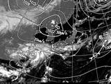 ひまわり7号可視画像・天気図合成 2014年9月22日12時JST