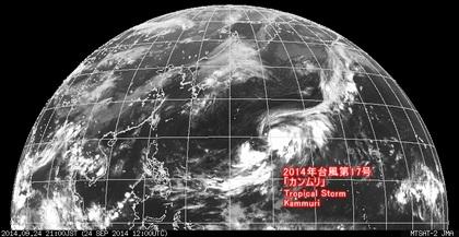 2014年9月24日21時 ひまわり7号赤外線画像