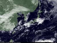 ひまわり7号可視画像 2014年10月1日12時JST
