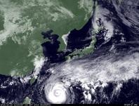 ひまわり7号可視画像 2014年10月10日12時JST
