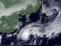 ひまわり7号可視画像 2014年10月11日12時JST