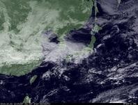 ひまわり7号可視画像 2014年10月31日12時JST