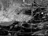 ひまわり7号可視画像・天気図合成 2014年10月30日12時JST