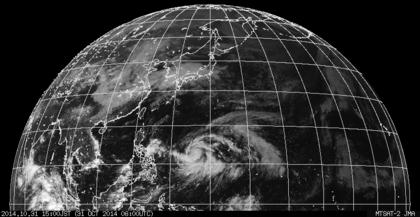 2014年10月31日15時 ひまわり7号可視赤外合成画像