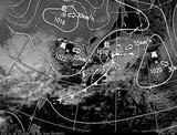 ひまわり7号可視画像・天気図合成 2014年11月29日12時JST