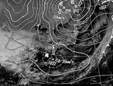 ひまわり7号可視画像・天気図合成 2014年12月3日12時JST