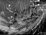 ひまわり7号可視画像・天気図合成 2014年12月6日12時JST